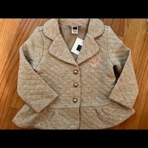 NWT Janie & Jack Gold Button Blazer/Jacket
